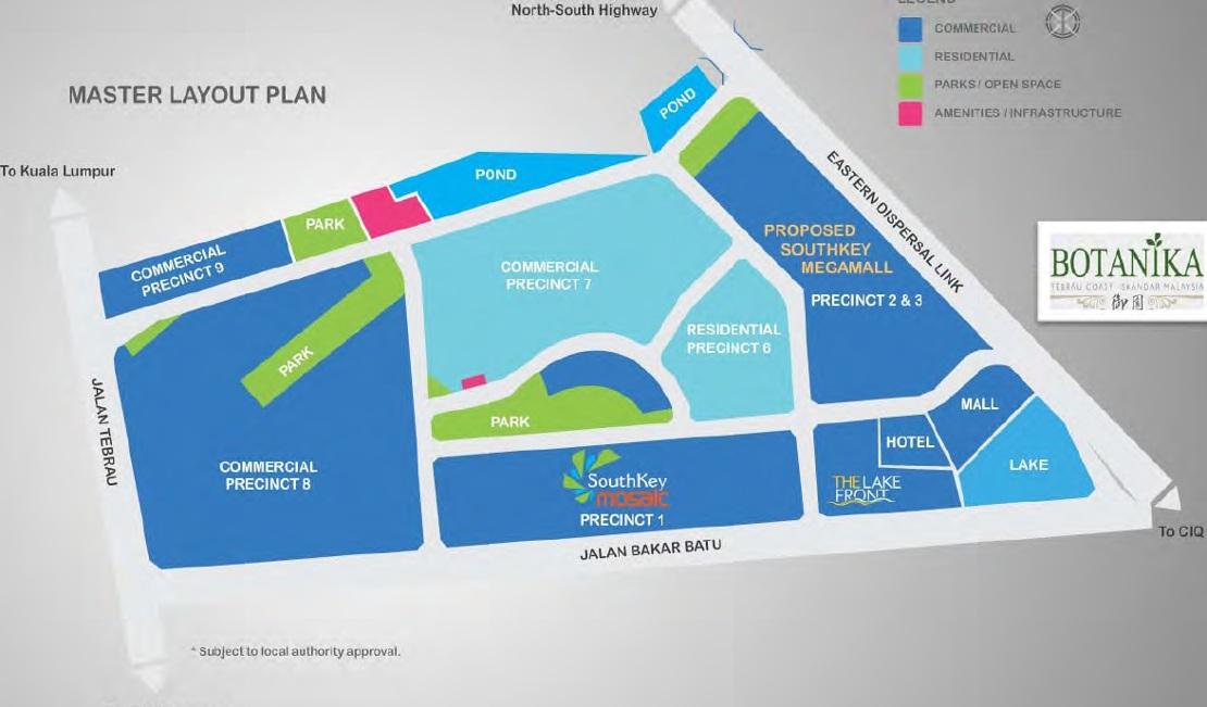 Botanika-Tebrau-Coast-Southkey-megamall-plan-Iskandar-New-Launch