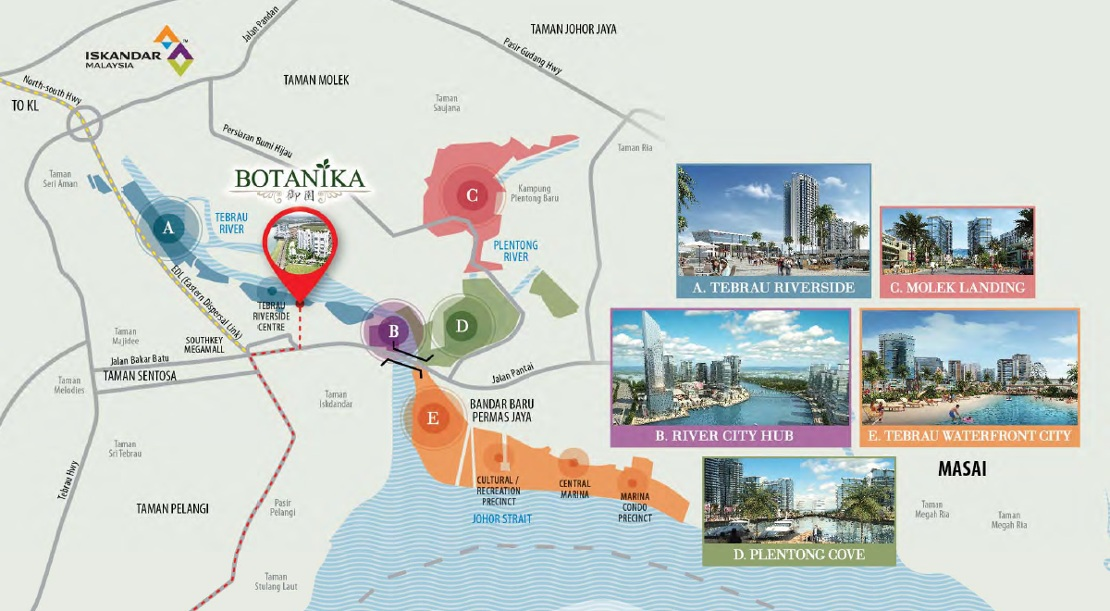 Botanika-Tebrau-Coast-waterfront-city-map-Iskandar-New-Launch
