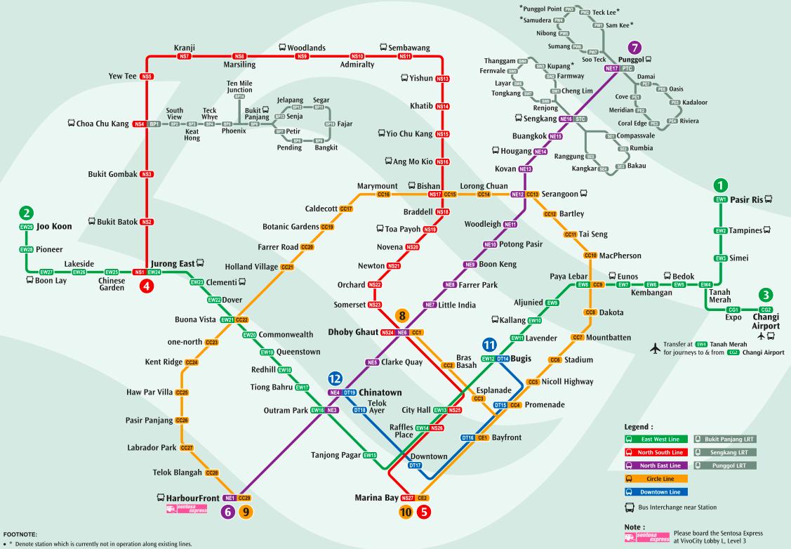 Singapore Subway Map 2014.Singapore Mrt Map