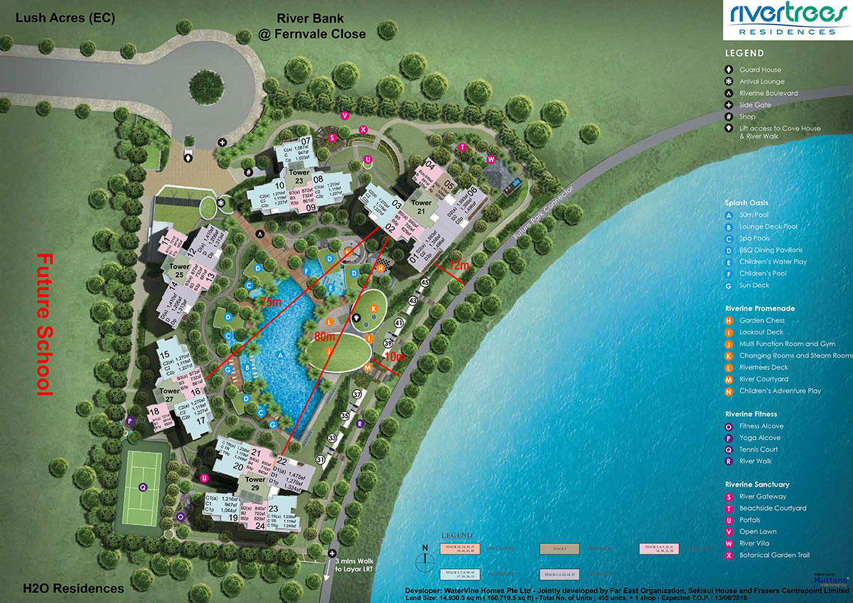 Rivertrees Residences Site Map
